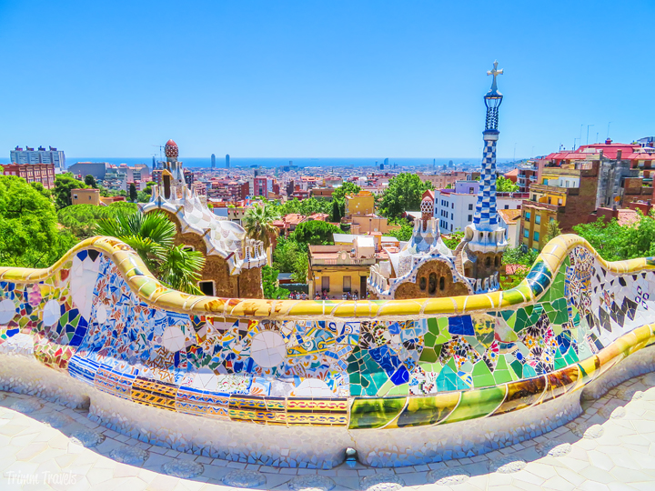 looking over Barcelona from Park Güell