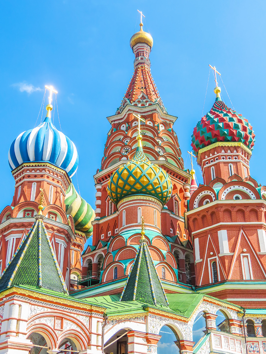 Saint Basil's Cathedral in Moscow Russia