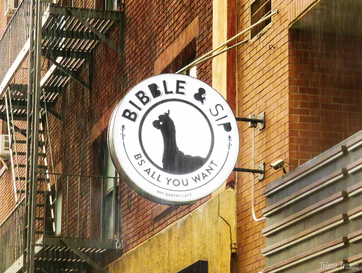 Bibble and Sip sign outside in New York City