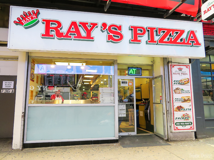 exterior of Ray's Pizza in Times Square New York City