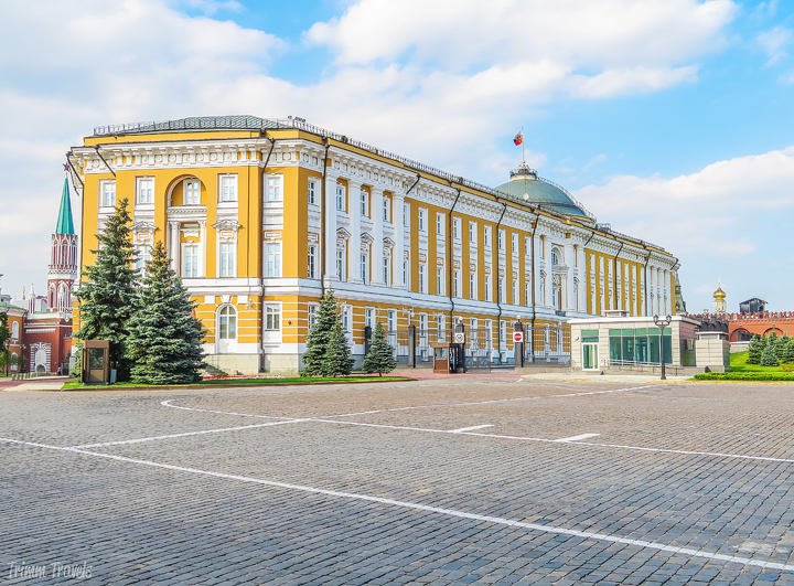 sideview of the Great Kremlin Palace Moscow Russia