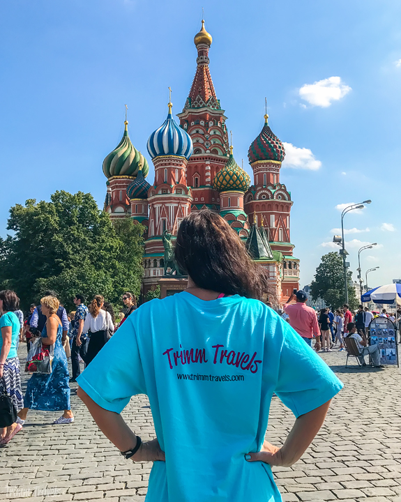 Me standing in front of St Basil's Cathedral