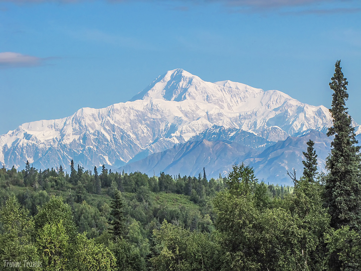 view of Mt McKinley in Alaska, USA for comparison of altitude