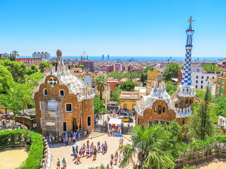 looking out from the Monumental Zone at Park Güell A Gaudi Barcelona Tour