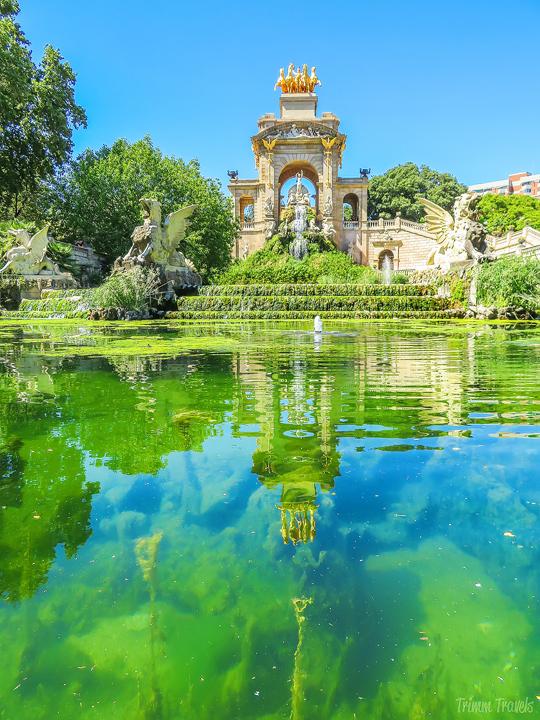 La Cascada waterfall in Park Ciutadella A Gaudi Barcelona Tour
