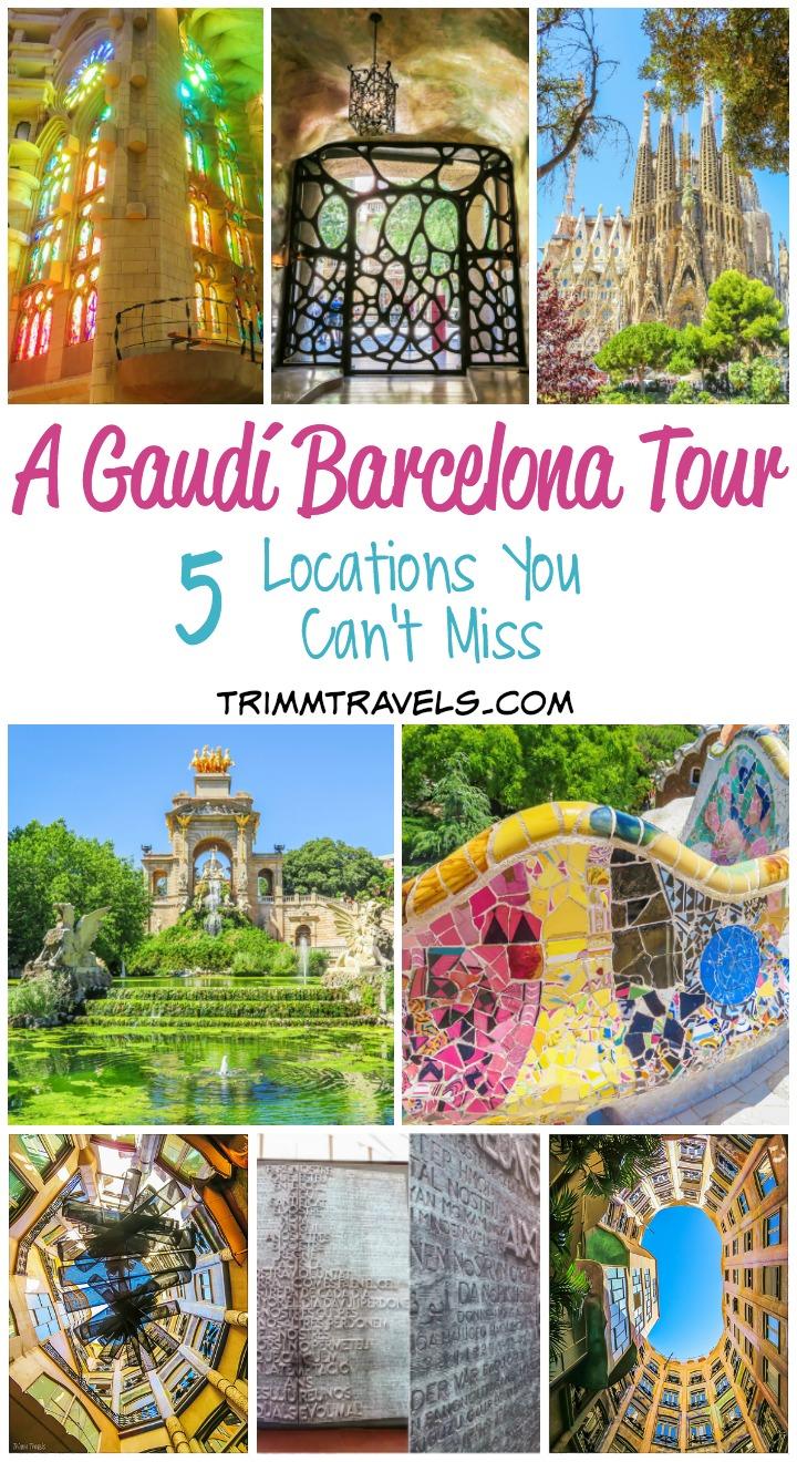 Pinterest Title Pin A Gaudi Barcelona Tour
