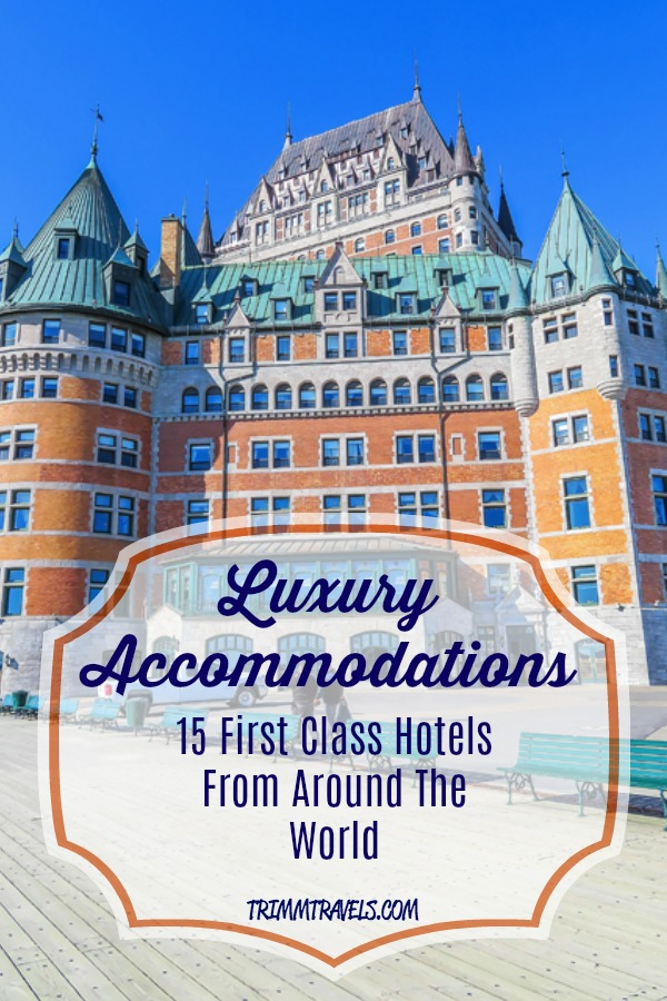 Looking to book that long-awaited luxury getaway and wanting to have that unforgettable, dream hotel experience? I know just the place! I am sharing my personal list of 4 and 5-star luxury stays from across the globe including Canada, Europe, Asia, South America and right here in the United States! #luxury #accommodations #hotels #travel #europe #southamerica #usa #asia #canada #traveltips