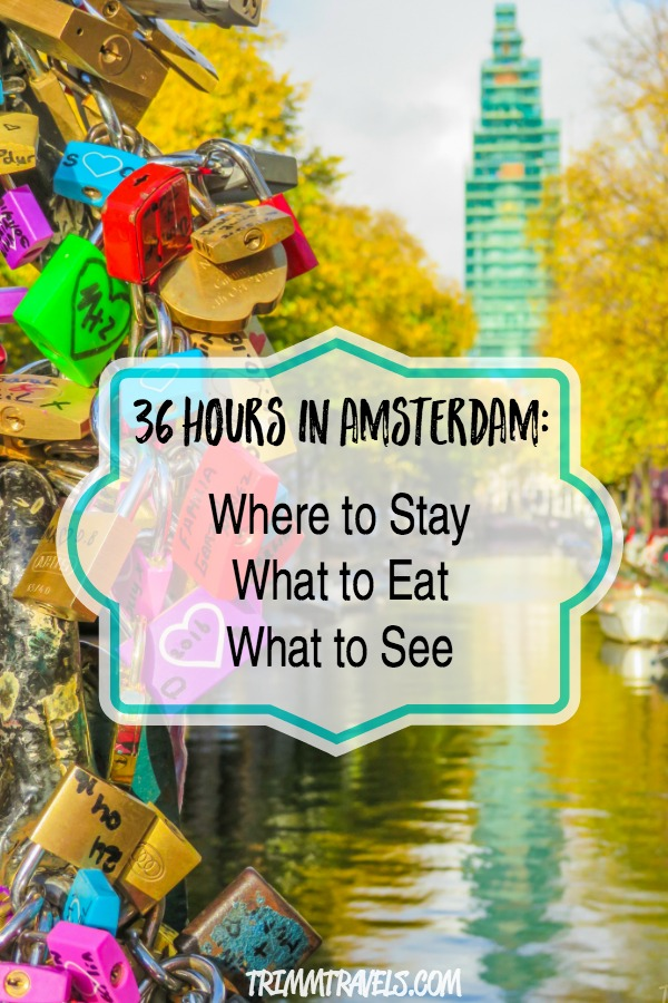 Flying through Amsterdam? Only have 24-36 hours? No problem! I got you covered with what all to see, eat and where to stay here in 36 Hours in Amsterdam! #amsterdam #travelguide #travelitinerary #thenetherlands #holland #europe #stopover #travel #destinations #guide