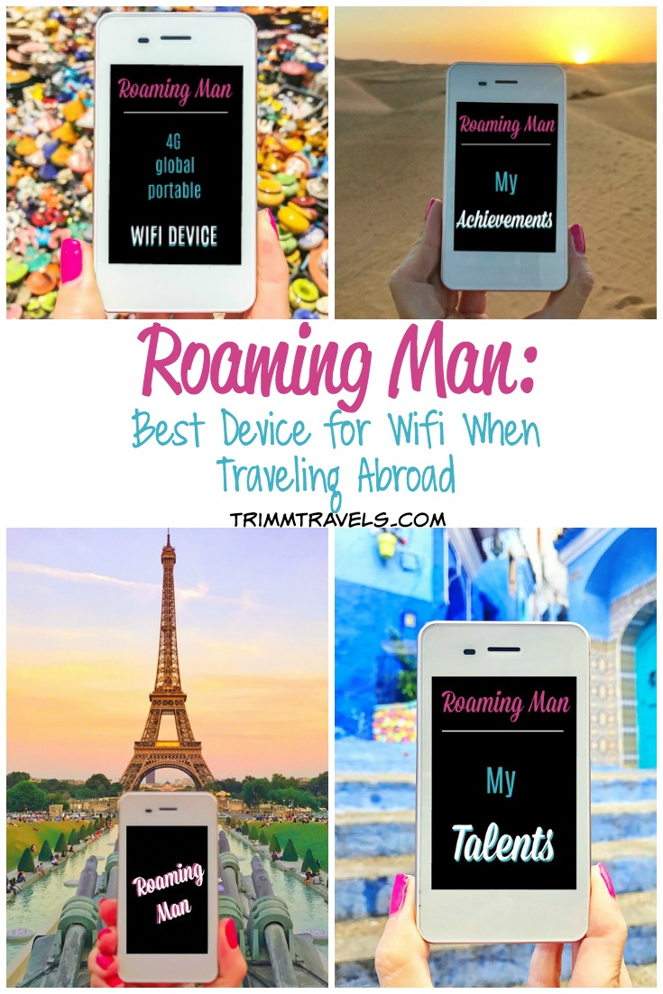 You might be wondering what to do for wifi when traveling abroad. Check out why Roaming Man is the best solution for providing personal wifi service! #roamingman #wifi #wifidevice #hotspot #connect #travel #travelgear #traveltech #travelers #wireless #gear #tech