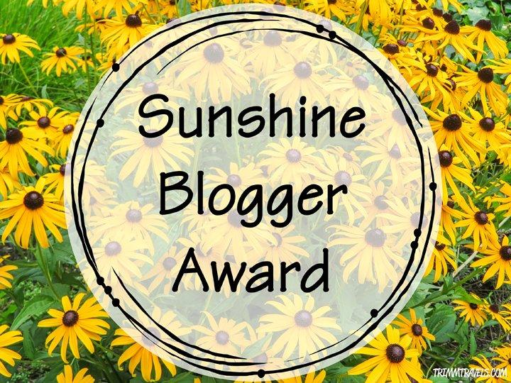 A Ray of Sunlight: The Sunshine Blogger Award
