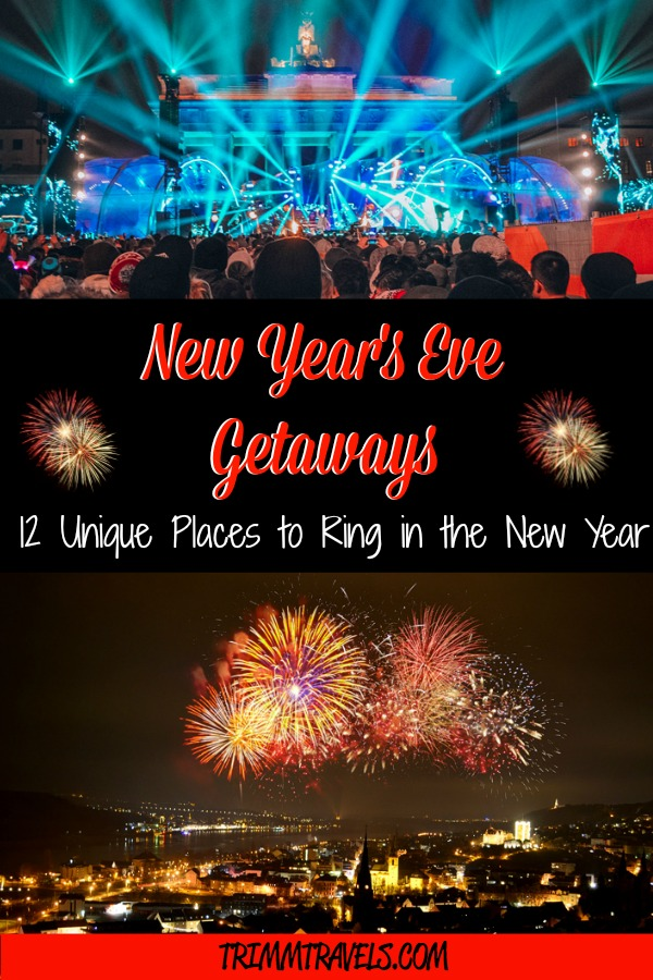 Looking for somewhere different to end the year with a blast? Check out these New Year's Eve getaways for unique places to ring in the new year! #nye #newyears #newyearseve #newyearstravel #destinations #travel #holiday #holidays