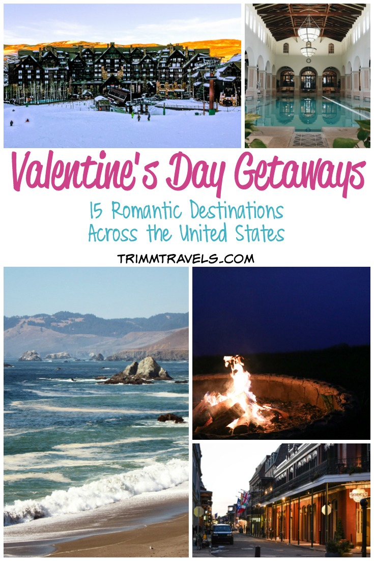Wanting to whisk your significant other away to celebrate love? Try these romantic destinations across the US for the perfect Valentine's Day getaway! #valentinesday #valentines #unitedstates #usa #valentines #getaways #bemine #destinations #travel