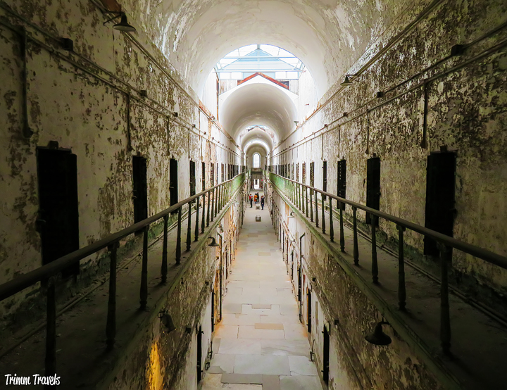 One of the most unique things to do in Philadelphia is the Eastern State Penitentiary tour. Go behind the eerie walls of the world's first penitentiary! #easternstate #penitentiary #tour #prison #philly #philadelphia #pennsylvania #activities #travel #destinations