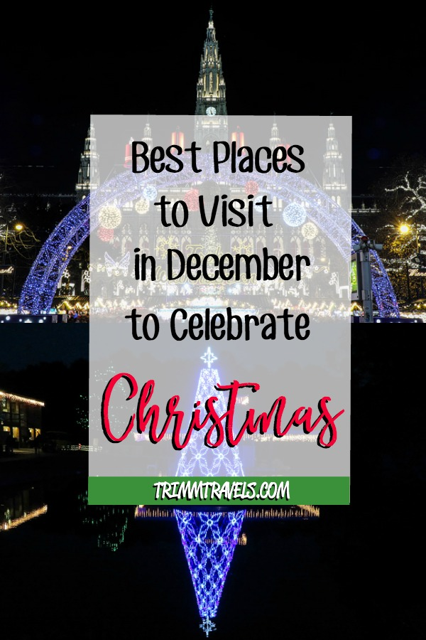 Do you love to travel at Christmas? I do! Together with other travel bloggers, I am presenting the best places to visit in December for your inspiration! #christmas #holiday #travel #holidays #december #destinations
