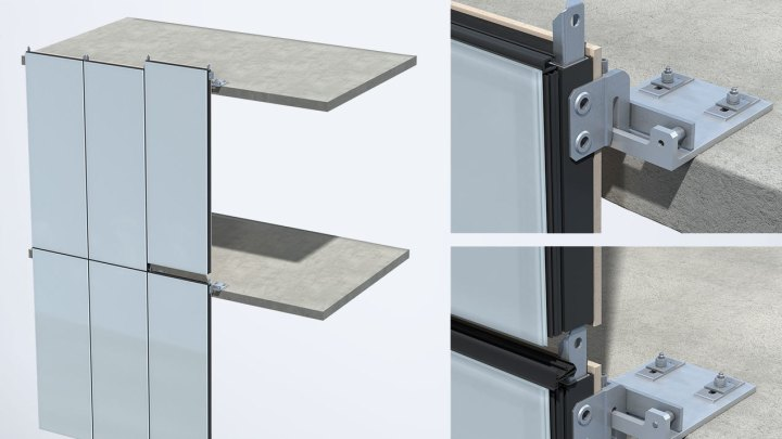 Unitized curtain wall installation details glif