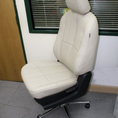 Car Seat Desk Chair Conversion Covers Range Isuzu Dmax Leather Converted Into An Office Special Img 0555