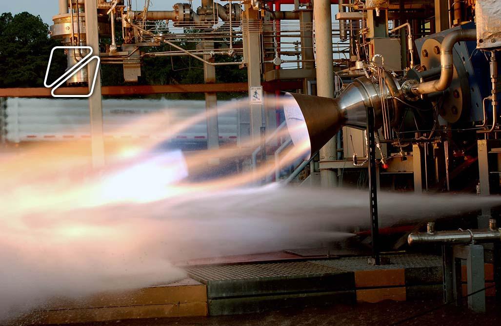 Rocket test firing