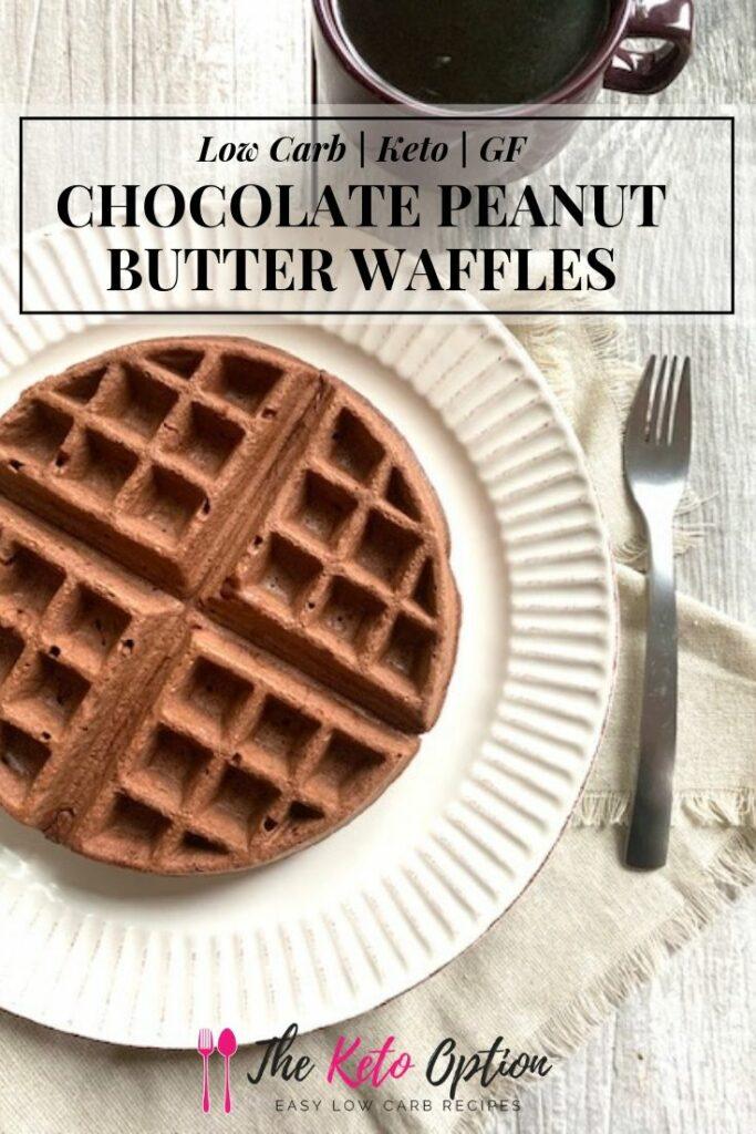 Keto Peanut Butter Chocolate Waffles