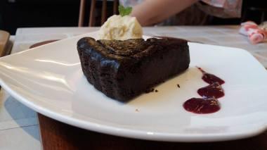 Tofu chocolate cake in Asakusa. UNREAL.