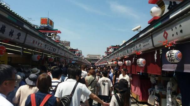 Mental crowds at Sensoji Shrine, Asakusa.