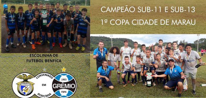 Trindade do Sul – Escolinha Benfica é Campeã em duas categorias na 1ª Copa Cidade de Marau