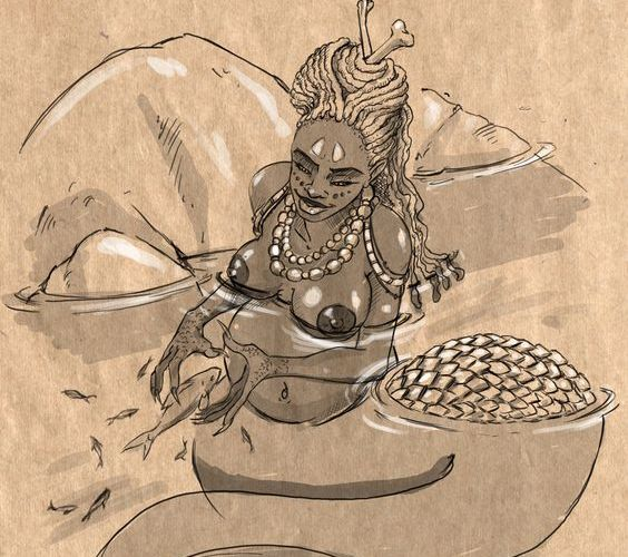Mama D'Leau Trinidad Folklore character.