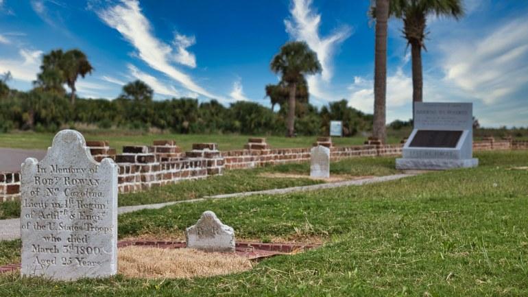Grave Site at Fort Pulaski, Tybee Island Georgia.