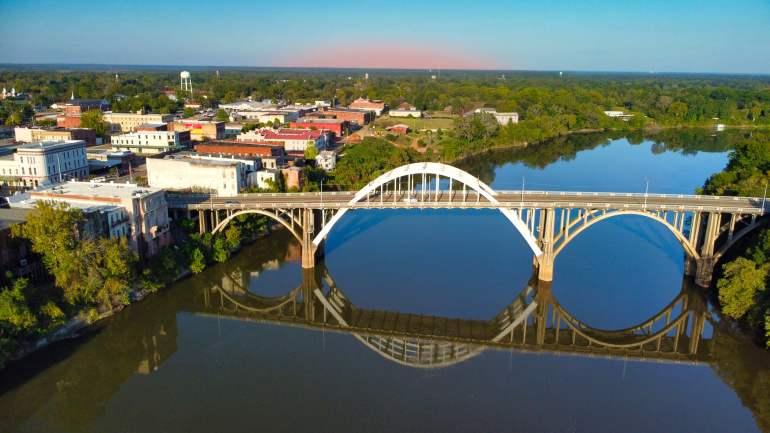 Edmund Pettus Bridge Aerial