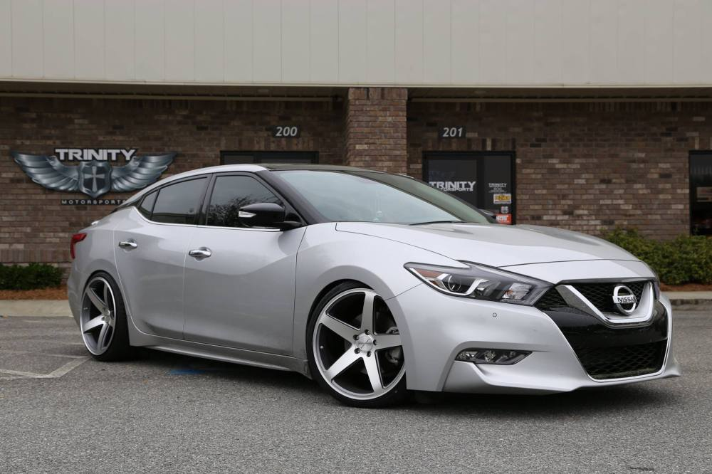 medium resolution of lowered 2016 nissan maxima concavo wheels