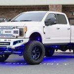 Fabtech Lifted F 250 Platinum On Fuel Wheels Wrapped With Nittos Trinity Motorsports