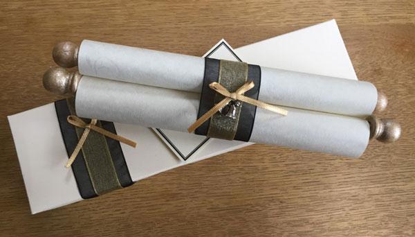 personalised scrolls