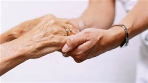 Caregiving hands