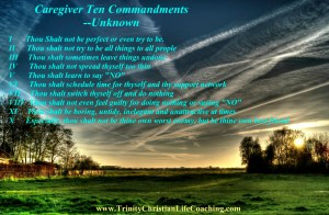 Ten Commandments for Caregivers
