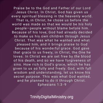 ephesians 1:3-9 image
