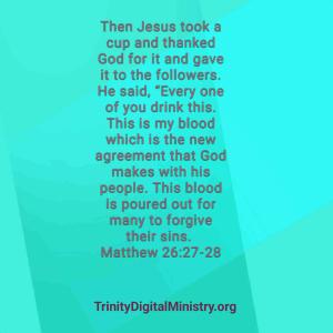 Matthew 26:27-28 image
