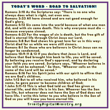 Today's Word - Romans Road to Salvation image