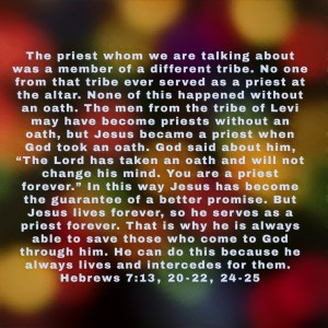 Hebrews 7:13-24 Image