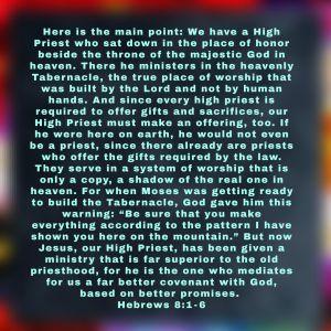 Hebrews 8:1-6 Image