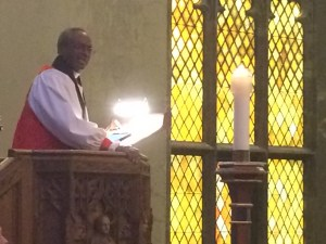 Presiding Bishop, Michael Curry, preached at Trinity November 2016
