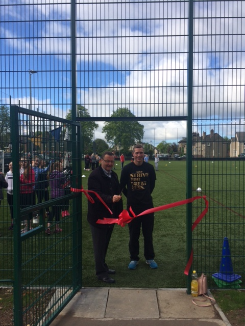 Mr Nellaney Pitch ribbon cut