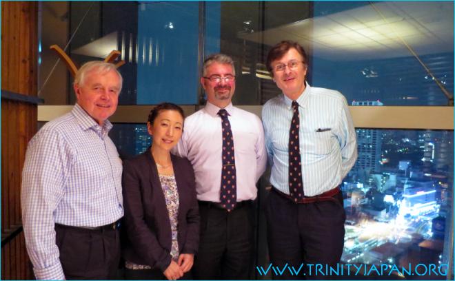 Trinity in Japan Society Dinner on 24 September 2015 in Tokyo