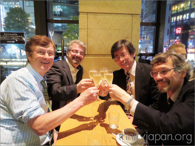 Trinity in Japan dinner: Thursday 28 April 2016 at 19:00 in Tokyo