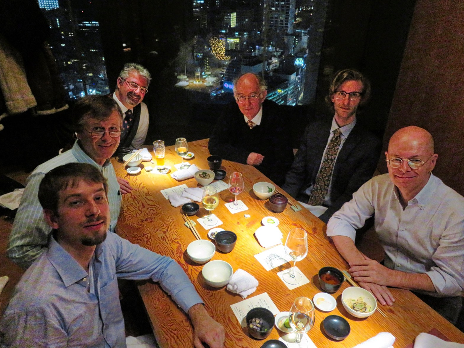 Trinity in Japan bonenkai year end meeting on Friday 15 December 2017 with Senior Research Fellow Dominic Lieven