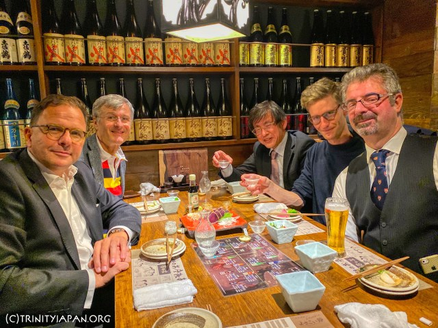18 October 2019 Trinity in Japan Rugby World Cup special and talk by Wolfgang Ungerer (1990) on the future of the automotive industries