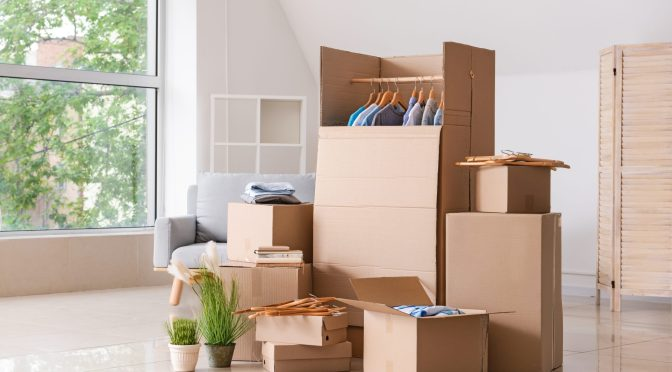 packing a closet to move