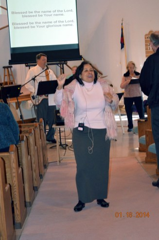 Rev. Sheryl in praise form