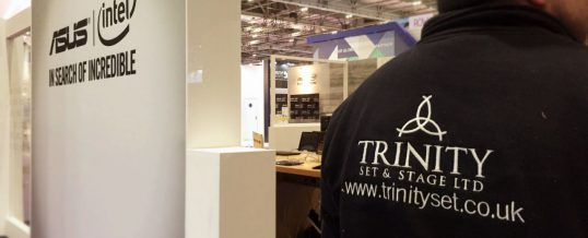 Exhibition Stand Builders Leicester : Exhibition stands trinity set & stage