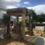Entrance structure and bespoke bar built by Trinity Set & Stage, for Sharp's Brewery at the Royal Cornwall Show '17