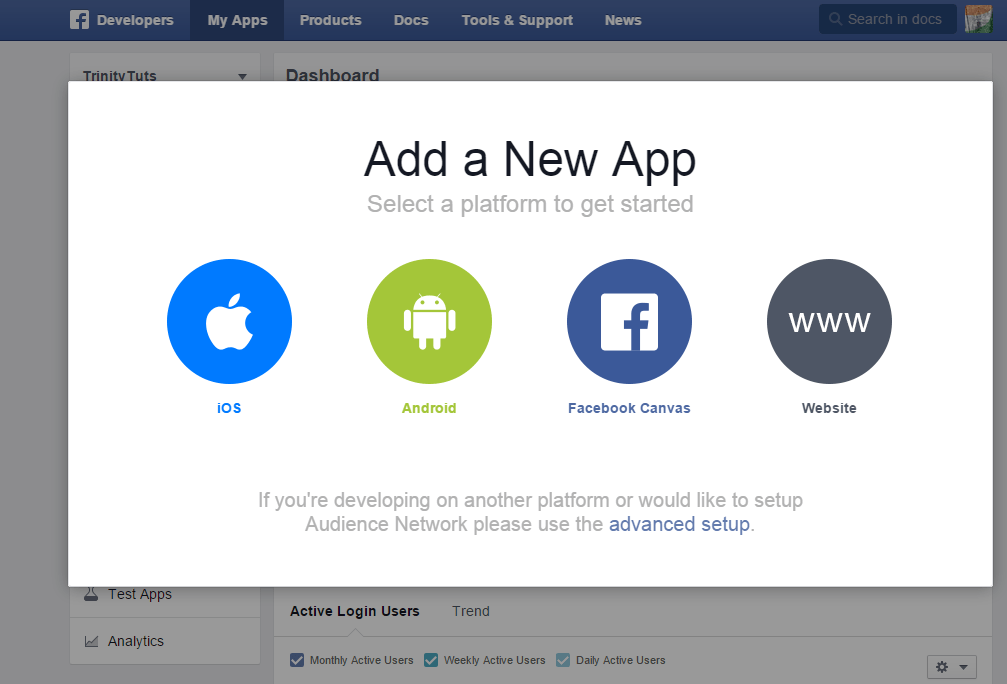 Facebook integration PHP application