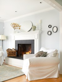 White Painted Brick Fireplace | www.imgkid.com - The Image ...
